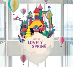 LOVELY SPRINGIllustrations for a spring campaign for Lotte World Mall, the biggest shopping centre in Seoul, Korea.Production and display design and animation by TIST. 2016 / Lotte World Mall
