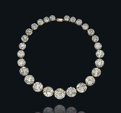 A diamond rivière necklace #christiesjewels