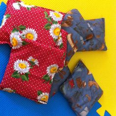 Toss bags for my kids - use beans we no longer eat, left over fabric from almost 15 yrs ago ... Voila!