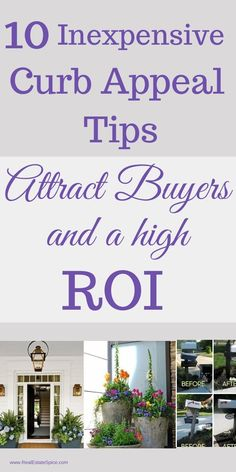 10 Inexpensive Curb Appeal Tips To Attract Buyers and A HIGHER ROI.  .  .  .   #RealEstateMarketing #Real Estate Marketing Ideas #Realtor Marketing #Realtor #Real Estate Agent #RealEstate #FSBO #Real Estate Tools #Realtor Help #Stagingtips #HomeSellingTips #CurbAppeal  #RealEstateIdeas #RealtorMarketing #RealEstateMarketingIdeas #RealEstateTools #RealtorHelp #RealEstateLeadGeneration #SellingHouse Real Estate Business, Local Real Estate, Real Estate Tips, Real Estate Marketing, Marketing Flyers, Marketing Ideas, Selling Your House, Sell House, Free Brochure