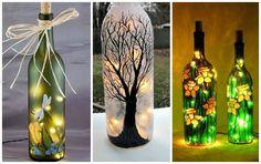 10 Manualidades increíbles con botellas de vidrio recicladas