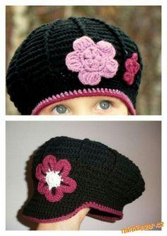 Háčkovaná bekovka baretek beret or newsboy cap. instructions in russian. like the colors. Crochet For Kids, Crochet Baby, Knit Crochet, Crochet Scarves, Crochet Clothes, Baby Shawl, How To Make Headbands, Cool Hats, Kids Hats