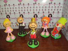 Dareliart: Turma do Circo com 5 personagens - Encomenda da Ya...