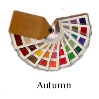 Autumn color swatch - if you're Warm, Deep and Muted, these are the colors for you! 33 fabulous shades that harmonize together to make you look instantly more attractive. Swatch is £21.00 visit www.style-yourself-confident.com/color-analysis-swatch.html
