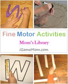 Fine Motor Activities for Kids #kidsactivities #finemotor #momslibrary