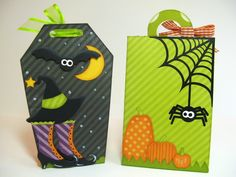 Snippets By Mendi: Lori Whitlock Halloween Treat Boxes- Back