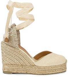 77d628ca5e5 Castaner Carina 80 Canvas & Jute Espadrille Wedges - Womens - Yellow ...