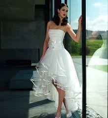 short front long back wedding dress