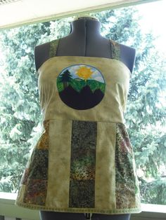 Patchwork backless apron hippie shirt with by LuvAndLightCreations, $55.00