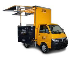 """Piaggio Porter transformed into mobile cafeteria for the Brand """"Selle Royal"""" Food Cart Design, Food Truck Design, South Korean Food, Korean Street Food, Coffee Box, Coffee Carts, Food Trucks, Poultry Cage, Food Kiosk"""