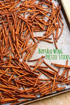 Game Day Recipes – Feature Friday – Sand and Sisal Game Day Recipes – Feature Friday – Sand and Sisal,Appetizers These Buffalo Wing Pretzel Sticks are the perfect snack to enjoy while watching the. Yummy Appetizers, Appetizers For Party, Yummy Snacks, Appetizer Recipes, Healthy Snacks, Snack Recipes, Cooking Recipes, Yummy Food, Game Recipes
