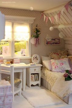 Beautiful Blue Shabby Chic Bedroom Ideas – Shabby Chic Home Interiors Bedroom Decor, Bedroom Vintage, Shabby Chic Bedrooms, Chic Decor, Kids Room Design, Room Design, Room Decor, Home Decor, Chic Bedroom