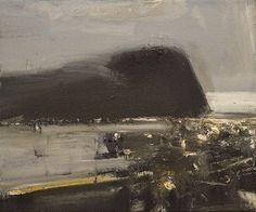 Ørnulf Opdahl: Disig dag, 40 x 40 cm Landscape Drawings, Abstract Landscape, Landscape Paintings, Abstract Art, Abstract Paintings, Art Paintings, Land Ho, Bonnard, Oslo
