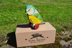 Tom Frostt: The Wooden Collection for YSP - love the native birds wooden pull along toys