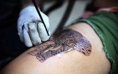 Bamboo tattos in Koh Tao. #livethedream #thailand #tattoo