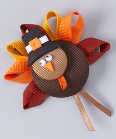 Take a look at this Pilgrim Turkey Alligator Clip by Picture Perfect Hair Bows on #zulily today!