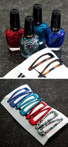 Sibling Gifts :: Glittery Barrettes