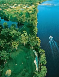 Golf course at Kingsmill On The James near historic Williamsburg [ ArtOfGolf.com ] #course #art #golf ◉ pinned by  http://www.waterfront-properties.com/pbgoldmarshclub.php