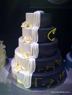 Some of my favorite things! Plumerias and batman!!!!! Want this for my wedding if i ever decide to get married