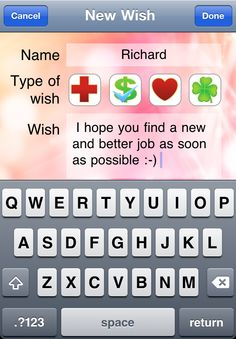 ... write a wish and ...