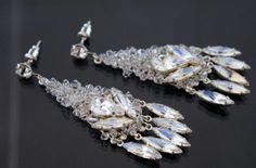 clustered Swarovski earrings by Mosquita
