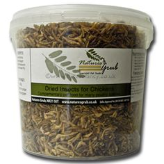 Natures Grub Dried Insects for chickens 450g 16 pound. this is great for a quick snack