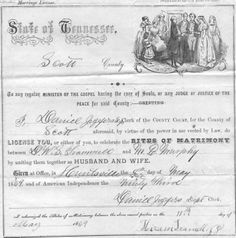 DS Trammell and M Murphy marriage Record