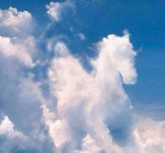 Looks like Jesus coming in the clouds on his white horse...