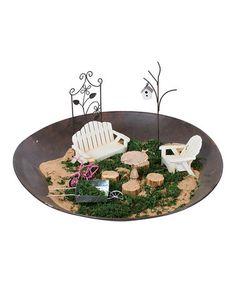 Look at this #zulilyfind! Metal Mini Garden Set #zulilyfinds