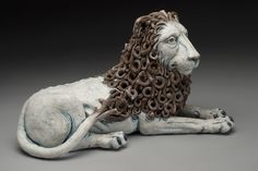 Reclined Lion with Internal Woman | Adrian Arleo