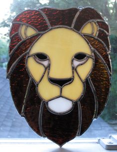 Stained+Glass+Lion+