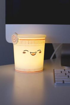 Tony Ramen Ambient Light Pre-Order This is a pre-order item, estimate ship date end of June. Cute Bedroom Ideas, Cute Room Decor, Cute Night Lights, Home Music, Kawaii Room, Night Lamps, Fashion Room, My New Room, Lamp Light