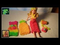 Video shows and tells you how to make a Summer Dress for a Barbie size Doll on the Rainbow loom . © Cheryl Mayberry, 2014 - Rerecording this video tutorial w...