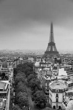 View from Arc de Triomphe de l'Étoile, Paris www.fgawronski.com
