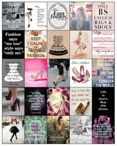 Fashionista quotes/images for your Erin Condren/Inkwell/ Plum Planner -Hard Copy