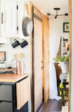 RV Renovation - Could you live in less than 300 square feet? See how this outdated motorhome was completely transformed into a rustic modern RV! MountainModernLife.com