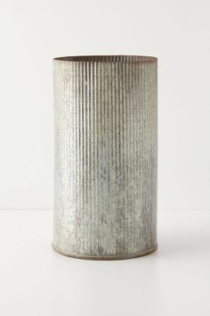 Slide View: 3: Ridged Zinc Pot