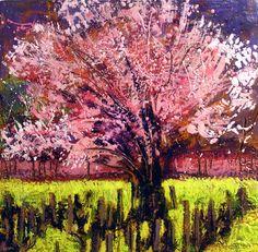 Jocelyn Audette - cherry tree with mustard, Napa Valley
