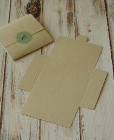 Craft Packaging, Jewelry Packaging, Necklace Packaging, Origami Envelope, Diy Envelope, Cute Crafts, Diy And Crafts, Paper Crafts, Cd Diy