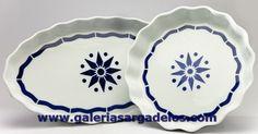 Fuentes de horno de cerámica de Sargadelos. Del horno a la mesa sin emplatar. Fábrica de cerámica de Sargadelos- CERVO-Lugo- Galicia-SPAIN