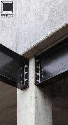 Steel Structure Buildings, Concrete Structure, Metal Structure, Steel Frame House, Steel House, Steel Frame Construction, Construction Design, Brick Architecture, Architecture Details