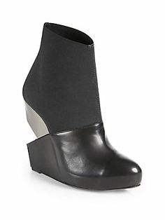 Charline De Luca Vreeland Leather Cutout Wedge Ankle Boots - Saks 5th Ave. - $368.83