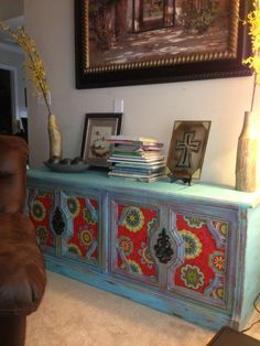 Furniture by MK Designs: Vintage stereo cabinet refinished from