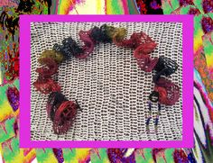 Funky Handmade Jewelry  Colorful Funky Ruffle by ArtisticFunk, $10.00  USE COUPON CODE PINTEREST10 For 10% Off