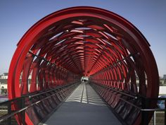 Bridge in La Roche-sur-Yon, France (links the historic town) completed 2010   Bernard Tschumi