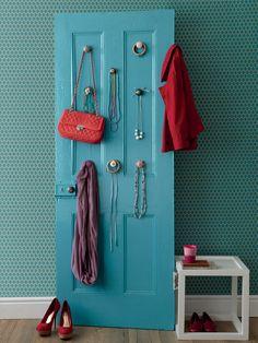 Use an old door as an interesting décor item