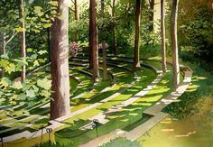 """Arthur Hoyt Scott Amphitheater"" watercolor © Siv Spurgeon (sold)"