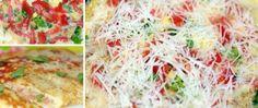 Recept Omeleta s rajčetem a parmazánem