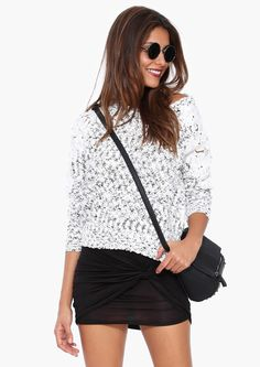 Can do this look with a slub  knit sweater and black pencil skirt I have