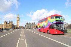 London's Rainbow Bus